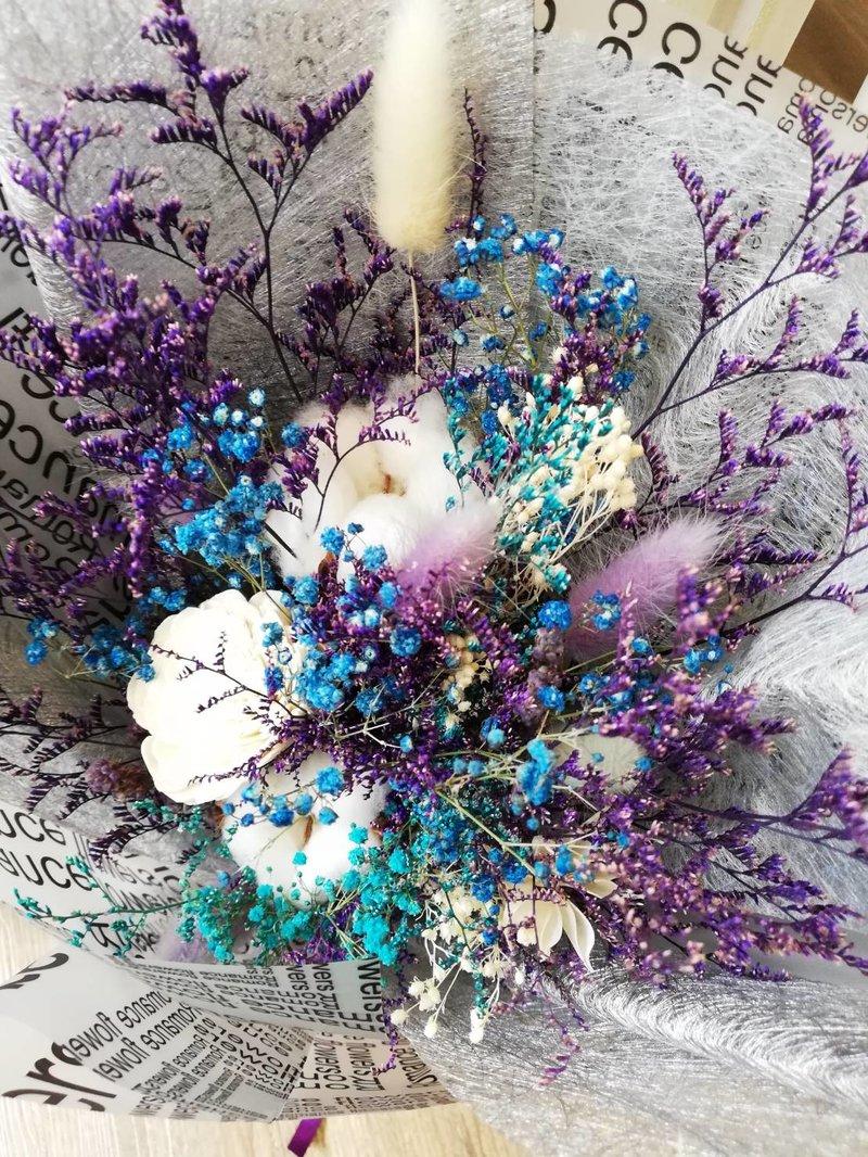 兔尾草、染色卡斯、太陽玫瑰、棉花、染色滿