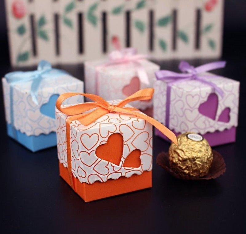 超熱賣 歐式愛心簍空 喜糖盒浪漫 雙心