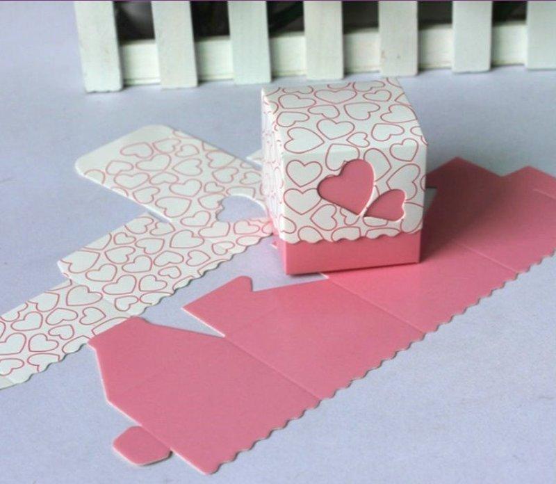 雙心喜糖盒 包裝盒 糖果紙盒 婚禮包裝