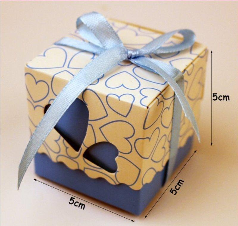 超熱賣 歐式愛心簍空 喜糖盒浪漫 雙心喜