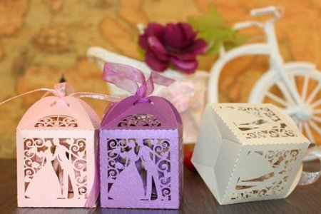 新進喜糖盒~甜美西式 歐風裸空激光新郎新