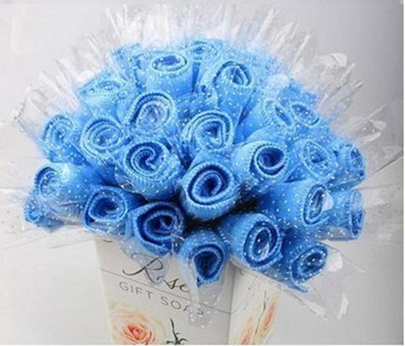 玫瑰花造型毛巾 B款