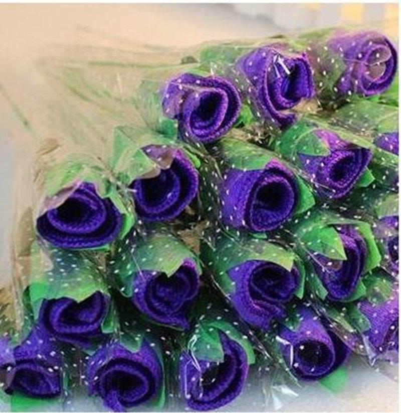 玫瑰花造型毛巾 A款