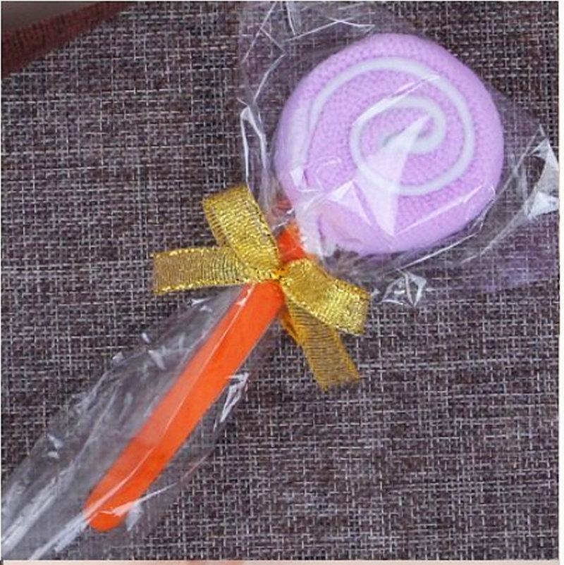 袋裝淺紫色=棒棒糖毛巾 造型毛巾 糖果毛