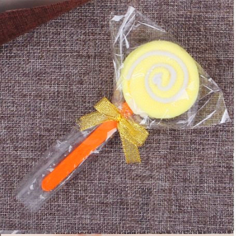 袋裝黃色=棒棒糖毛巾 造型毛巾 糖果毛巾