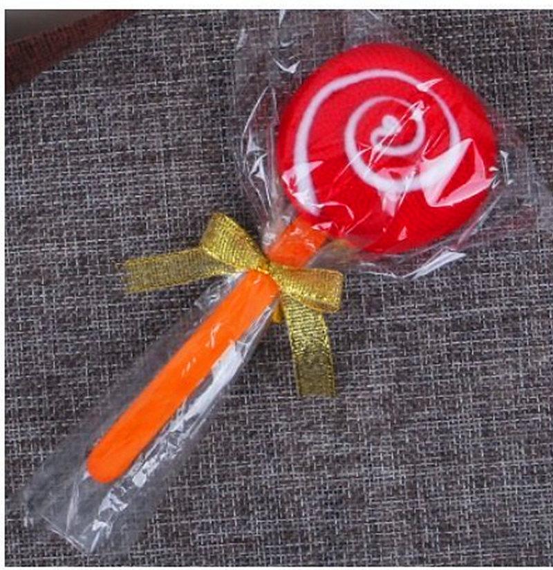 袋裝紅色=棒棒糖毛巾 造型毛巾 糖果毛