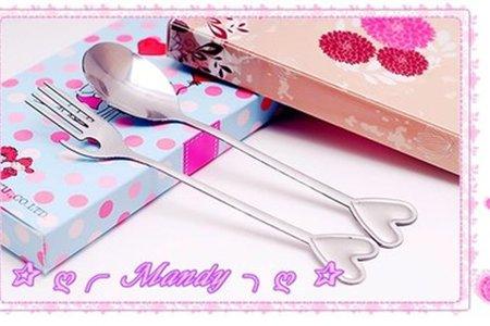 台灣商標權-兩件式愛戀造型湯叉餐具組禮盒