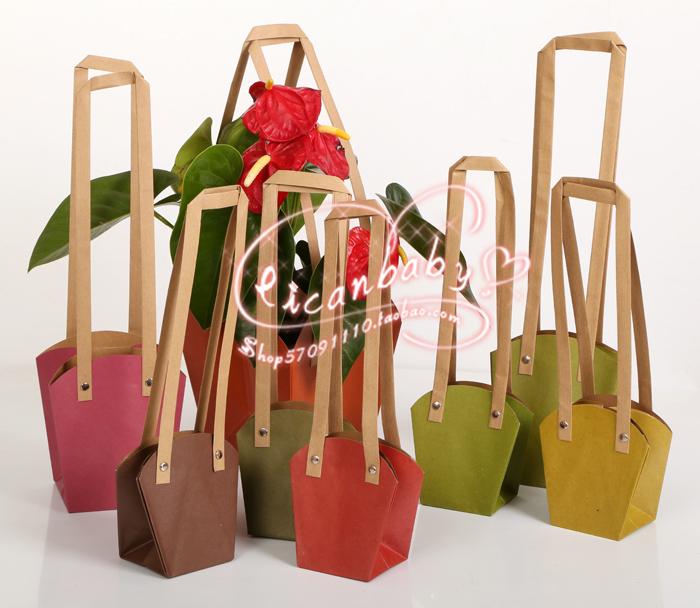 防水效果。用於裝小捧花手提禮品袋,禮品裝