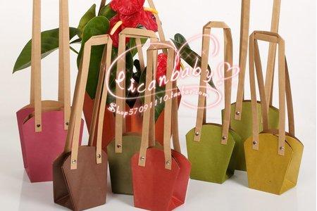 牛皮紙禮品袋 小捧花束裝置手拎袋