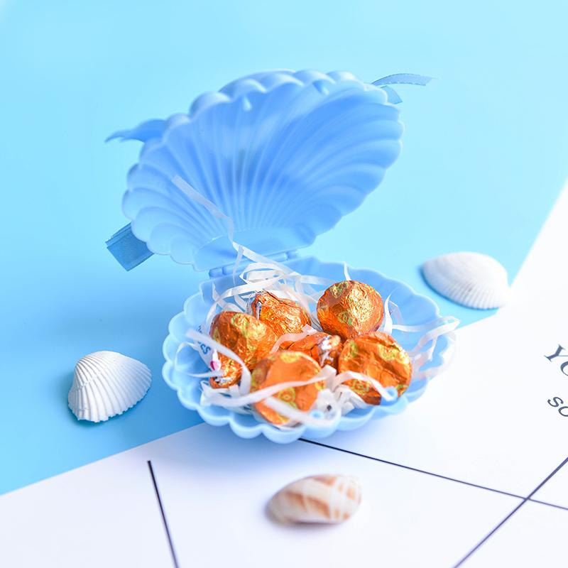 創意韓式甜美個性結婚禮珠寶盒【藍色貝殼】