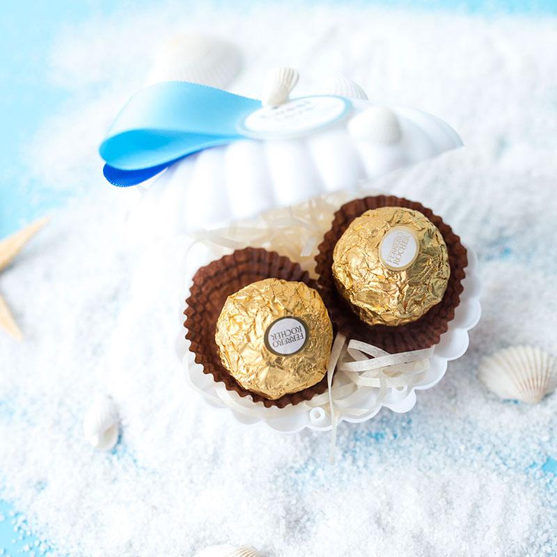 新款海洋婚禮糖果盒結婚小號喜糖[愛琴海]