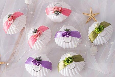 MISS結婚糖盒主題婚禮海洋[貝殼風鈴]