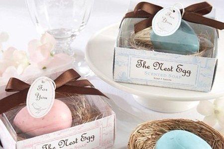 可愛鳥蛋手工香皂婚禮小物禮盒-透明上蓋