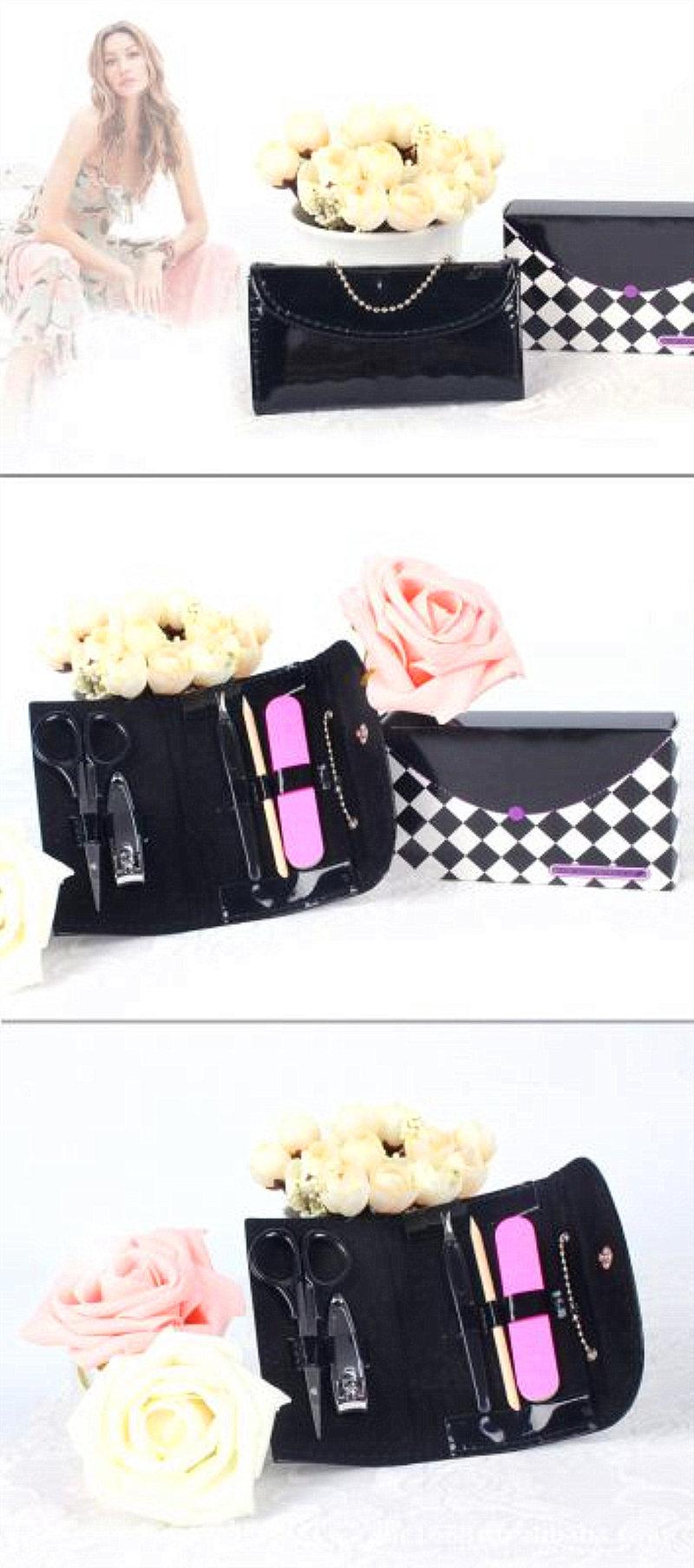 時尚黑色提包修容組(五件組)