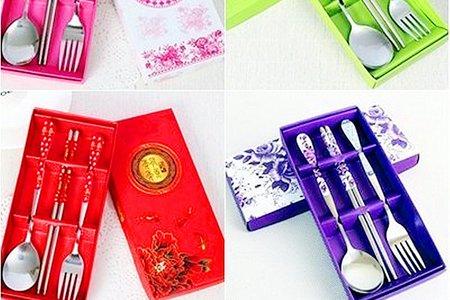 中國風高貴青花瓷兩件組與三件式組餐具禮盒