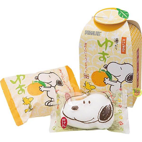 日本進口史奴比Snoopy造型香皂~柚香