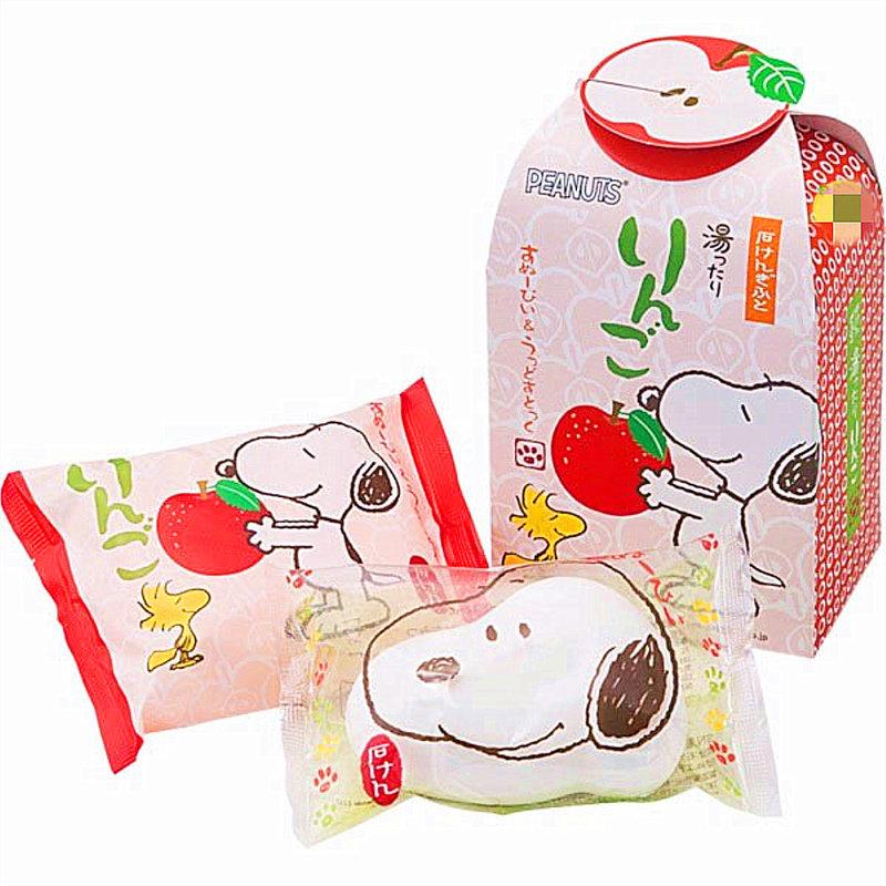 日本進口史奴比Snoopy造型香皂~蘋果