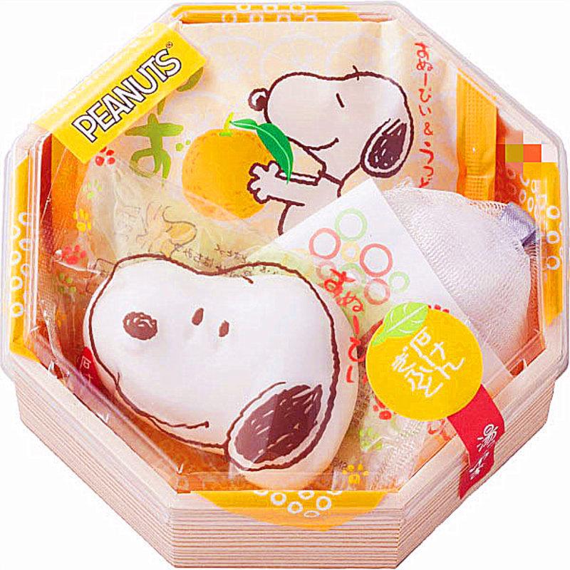 日本進口 史奴比Snoopy 造型香皂禮