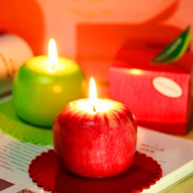 歐美婚禮小物 蘋果蠟燭