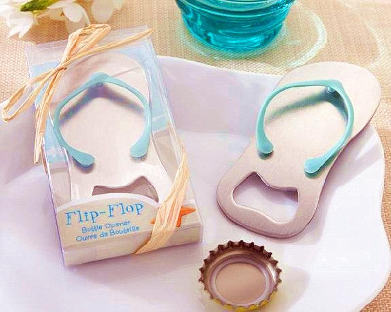 粉色與藍色 包裝禮盒海灘拖鞋