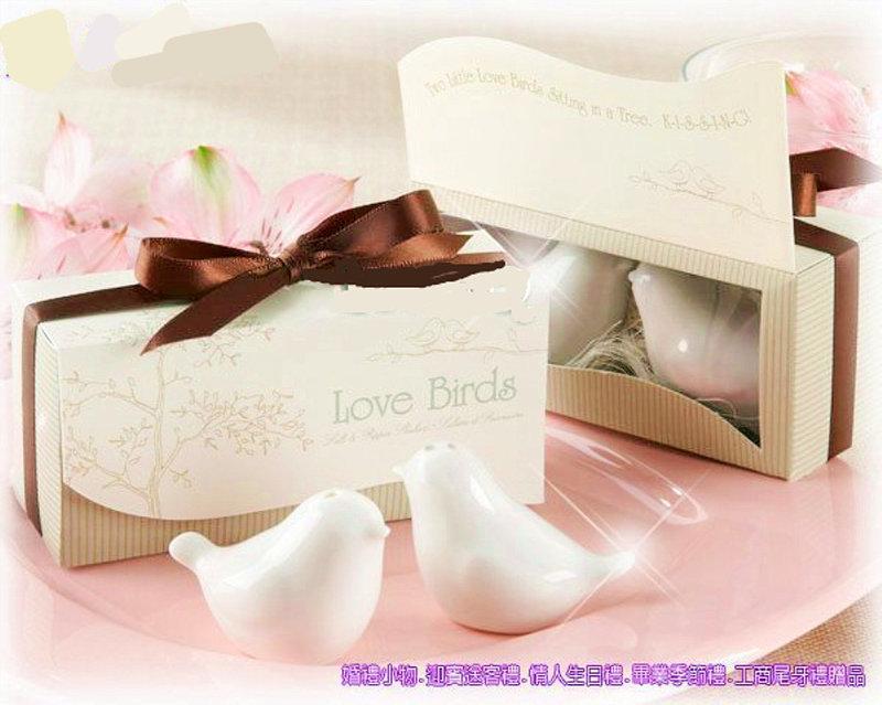 愛情鳥調味罐 陶瓷禮盒