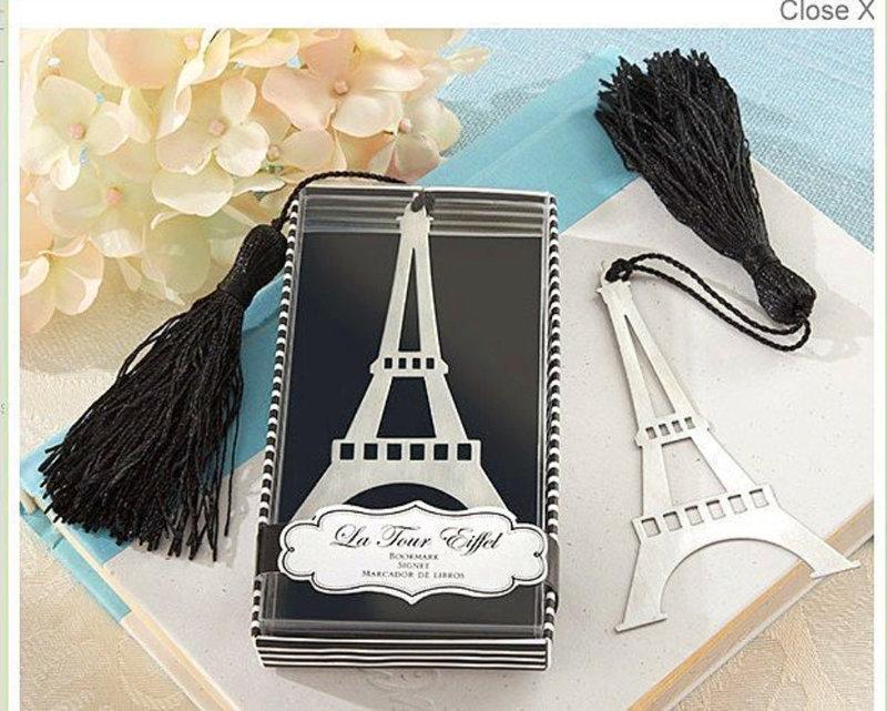 新款婚禮小物不鏽鋼巴黎鐵塔造型書籤