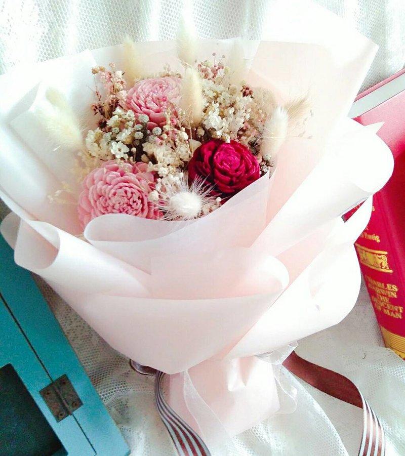 粉紅色的愛戀-乾燥捧花