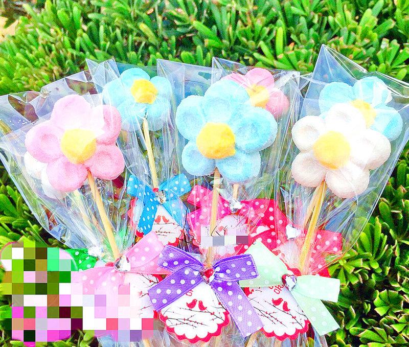 3色朵花棉花糖