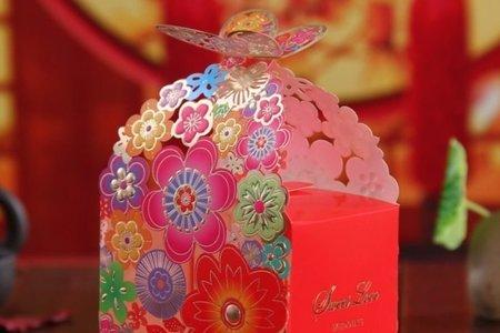 浪漫滿屋 歐式喜糖盒 歐式粉色禮服喜糖盒