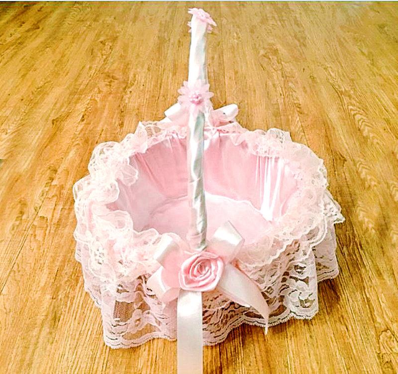進口蕾絲藤製喜糖籃