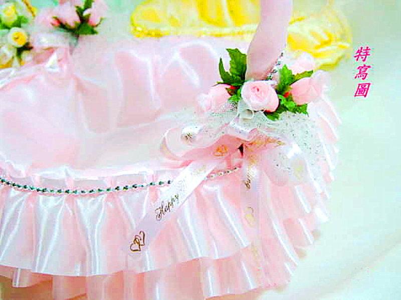 公主蛋糕款喜糖籃