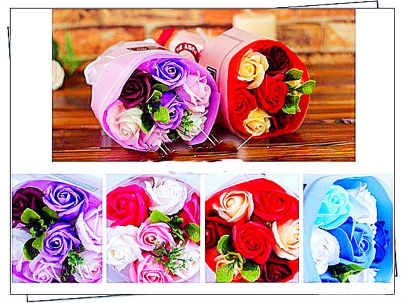 法式 7朵玫瑰手捧花 附質感提袋