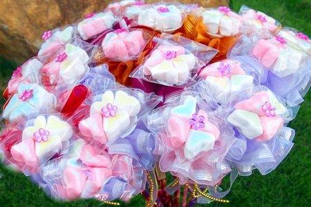 幸運心棉花糖雙層金莎花棒*促銷價不含糖籃