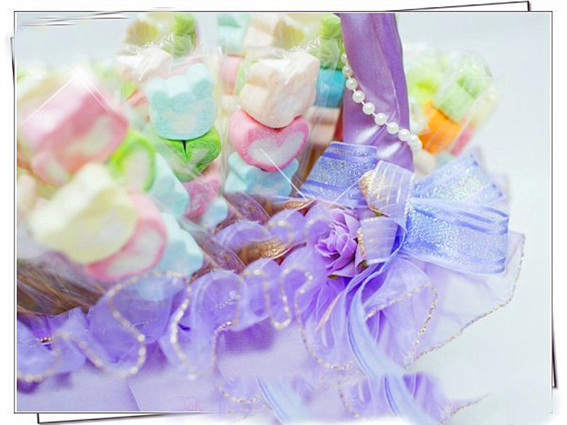 三入熊愛你棉花糖+手工喜糖籃組