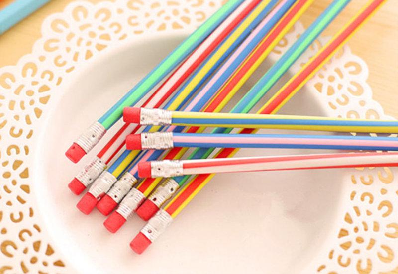 寫不斷!超神奇彩色可彎曲鉛筆