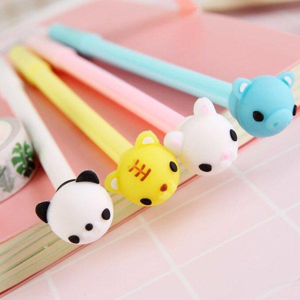 動物軟糖萌寵造型頭中性筆