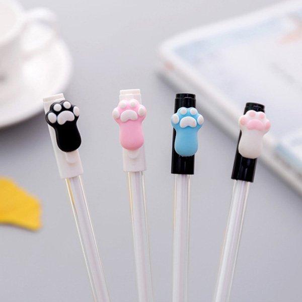 可愛小貓掌/狗掌 透明筆管 中性筆
