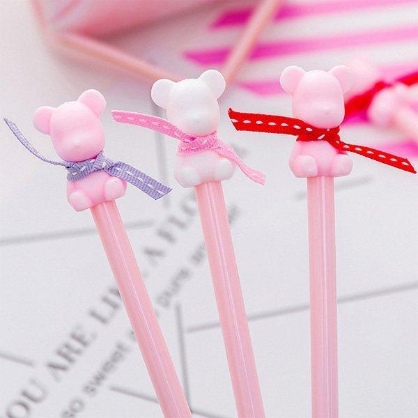 超Q精緻可愛緞帶小熊造型中性筆