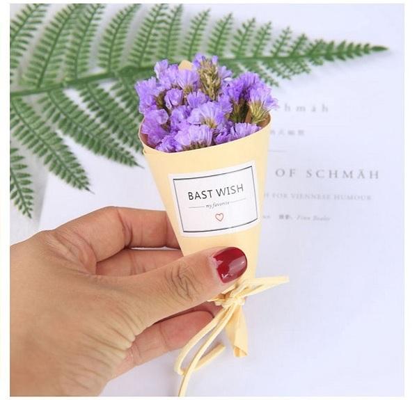 BEST WISH彩色迷你紙筒手工乾燥花