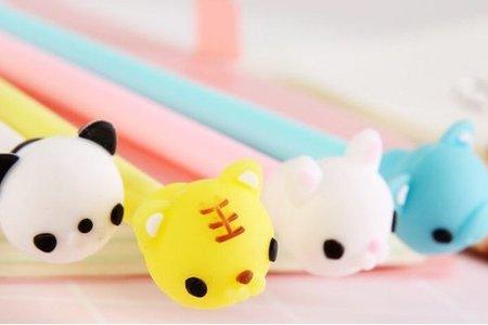 動物軟糖萌寵造型頭中性筆 水性筆
