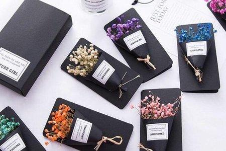 超迷你卡片花束-超質感黑色時尚禮盒