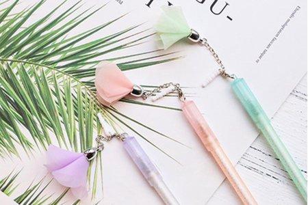 日本進口花朵兩用防塵塞 中性筆『不挑款』