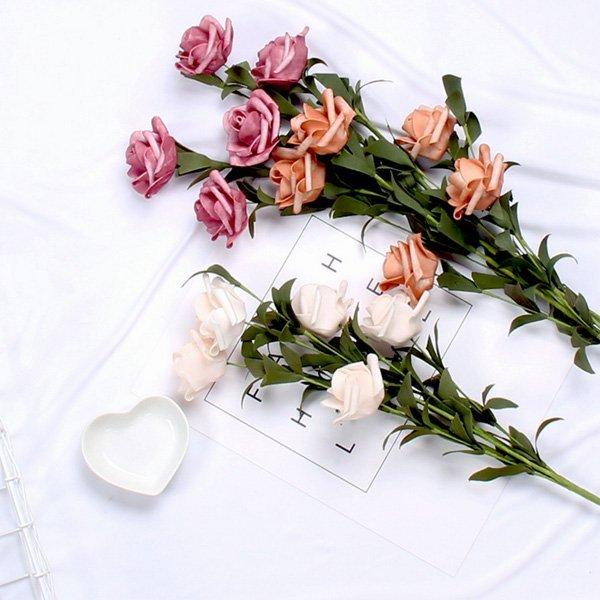 韓風仿真泡沫玫瑰花束 拍照背景 家用擺飾