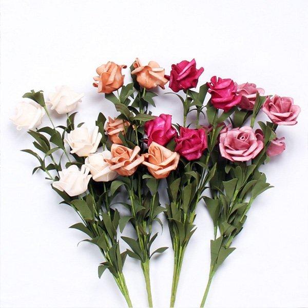 韓風仿真泡沫玫瑰花束 佈置擺飾 拍攝道具