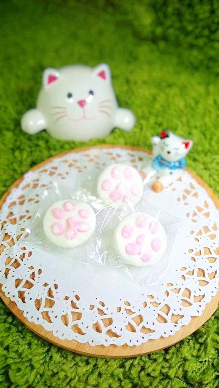 純手工製作可愛貓掌 肉掌造型棉花糖