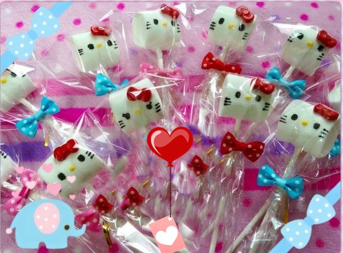 可愛造型糖霜棉花糖棒