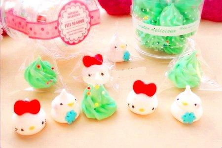 手作新品-造型糖霜棉花糖 小貓款 馬林糖