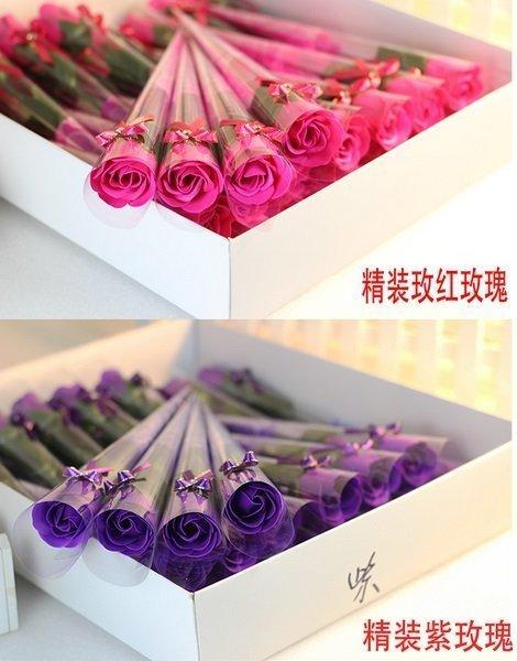 紫色玫瑰仿真花束 假花束 賓客禮 活動禮