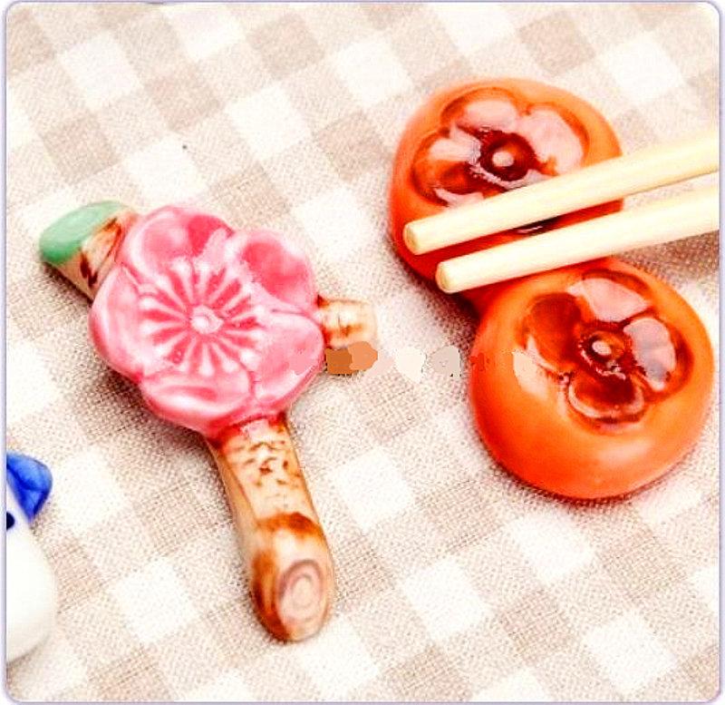 🌸 可愛的粉紅色梅花造型筷架  💮