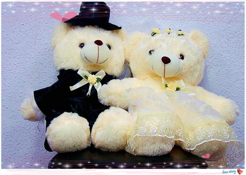 大型真愛婚紗熊